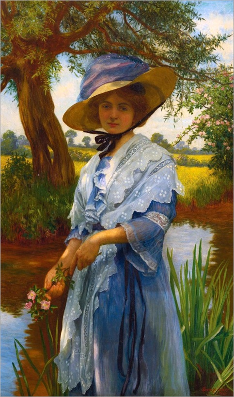 William Savage Cooper (1880-1926) BY THE RIVER