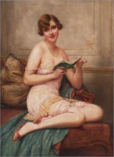 Woman Reading (c.1900). François Martin-Kavel (French, 1861-1931)