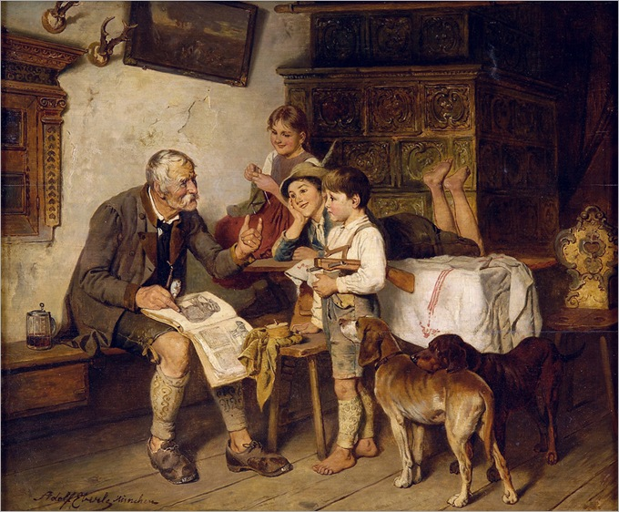 13.Adolf Eberle (German, 1843-1914)