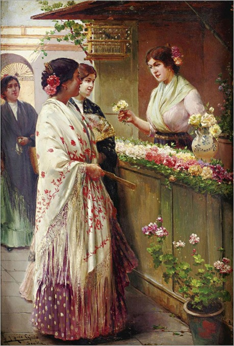 2.jose rico y cejudo-The flower seller
