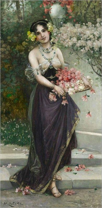 2.the maidens of spring-Hans Zatzka (austrian,1859-1945)