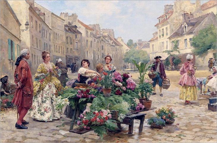 A Market During the XVIII century - Louis Marie de Schryver