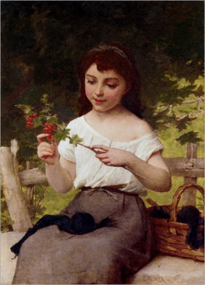 a_sprig_of_berries-Emile_Munier
