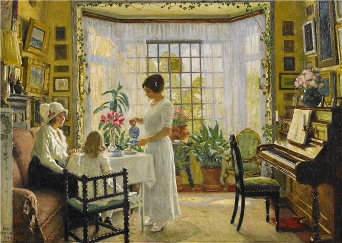 afternoon tea_ Paul-Gustave Fischer (1860-1934)