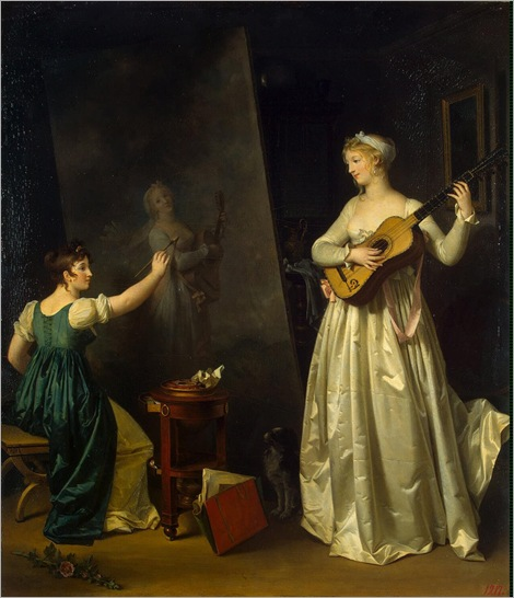 Artist Painting a Portrait of a Musician (c.1790-1803). Marguerite Gérard (French, Romantic, 1761-1837)