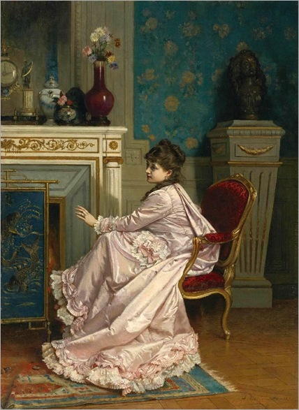 Auguste-Toulmouche-at the corner of the fire-1878