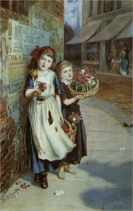 Augustus_Edwin_Mulready._Little_Flower_Sellers