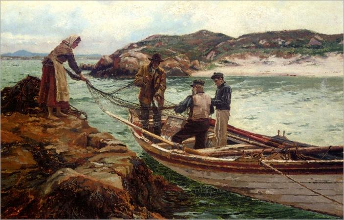 Bartlett_William_Henry_Landing_The_Catch_1902