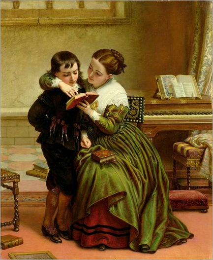 Charles West Cope (1811-1890)- George Herbert and His Mother