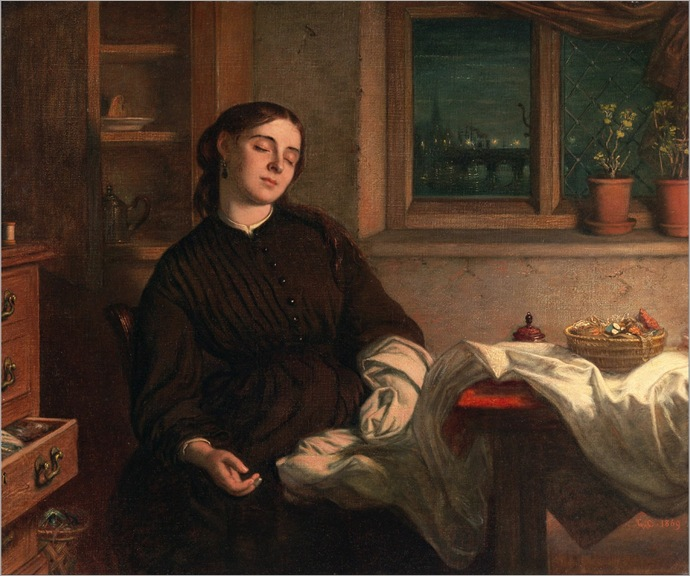 Charles West Cope (1811-1890)- Home Dreams 1869
