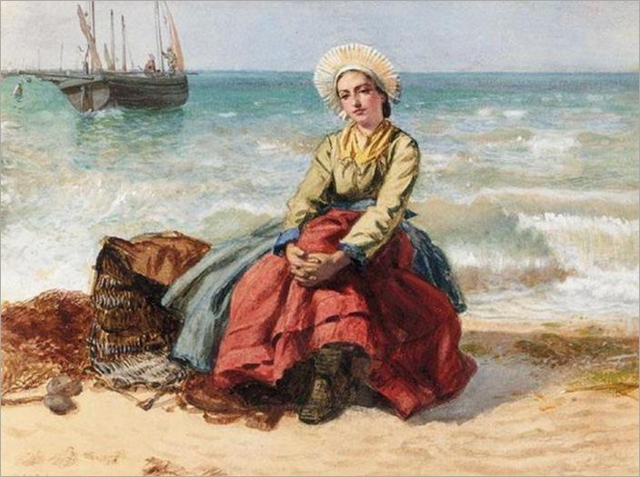 Edward K Johnson_a breton fisher girl