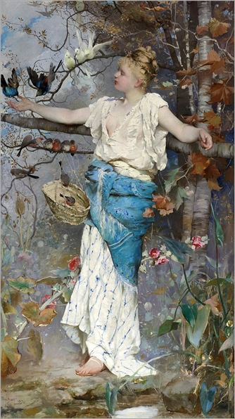 Emile Auguste Pinchart_autumn fantasy