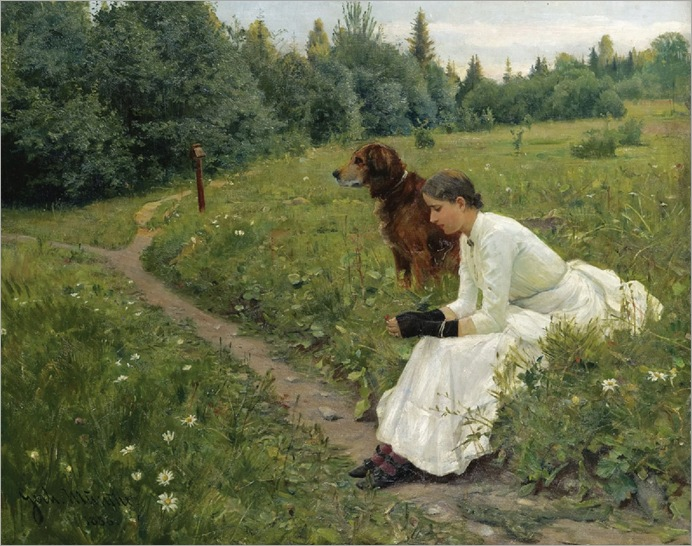 Gerhard Munthe (norwegian painter)- Idyll