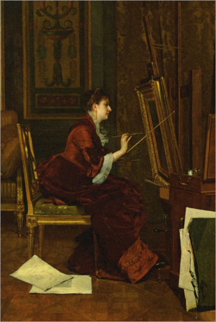 Goupil_Jules_Adolphe_The_Artist_in_Her_Studio