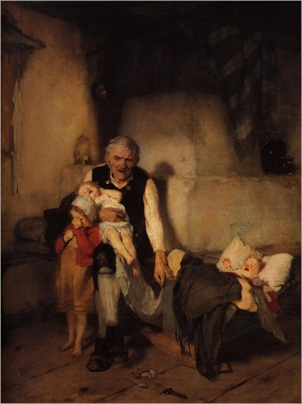 Grandfather and children-Nikolaos Gysis