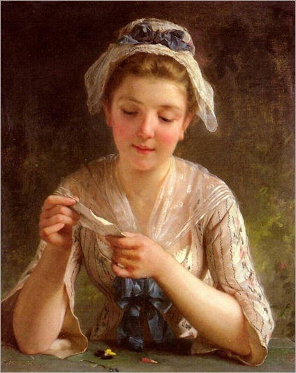La Lettre (The Letter). Émile Munier (French, Academic, 1840-1895)