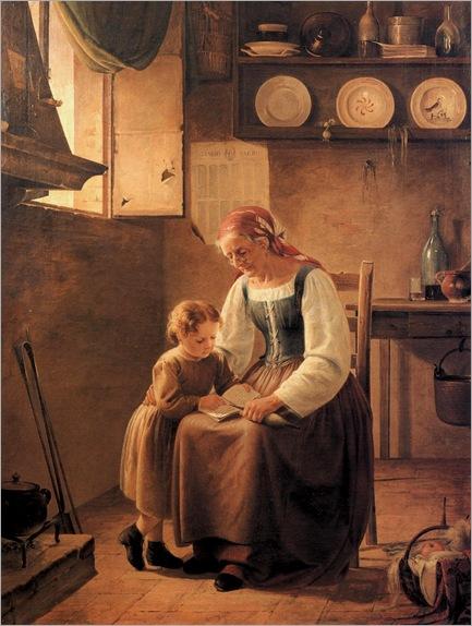 LA LETTURA - Achille Boschi (1852-1930)