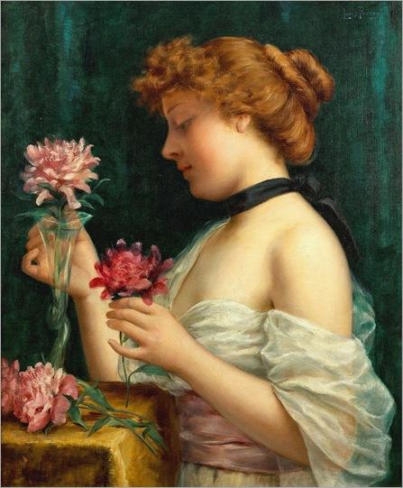 Le Bouquet Des Fleurs -1886 - by Louis Justin Maurice Perrey