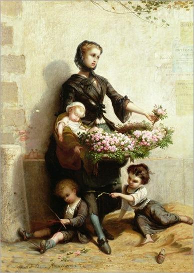 Leopold-de-Moulignon-victorian-flower-seller