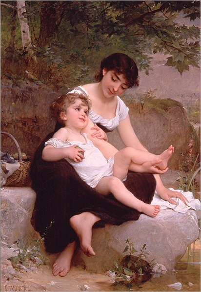 mother-and-child-emile-munier