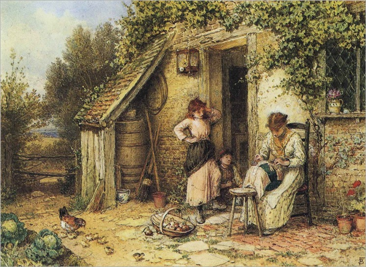 Myles Birket Foster - The Lacemaker