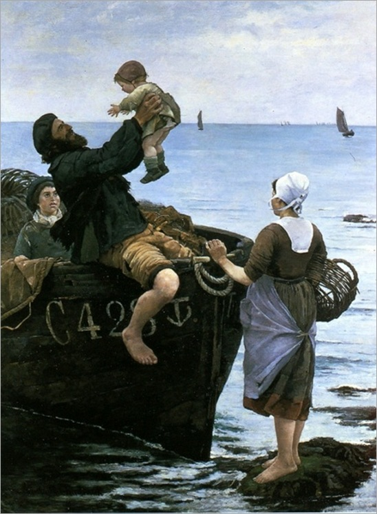 Off to the Sea - Emma Lowstadt Chadwick (swedish painter)
