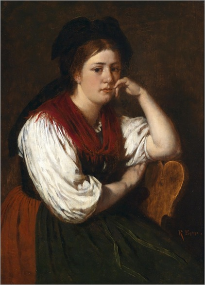 Rudolf Epp (Eberbach 1834–1910 Munich) Thoughtful Girl,_738x1024