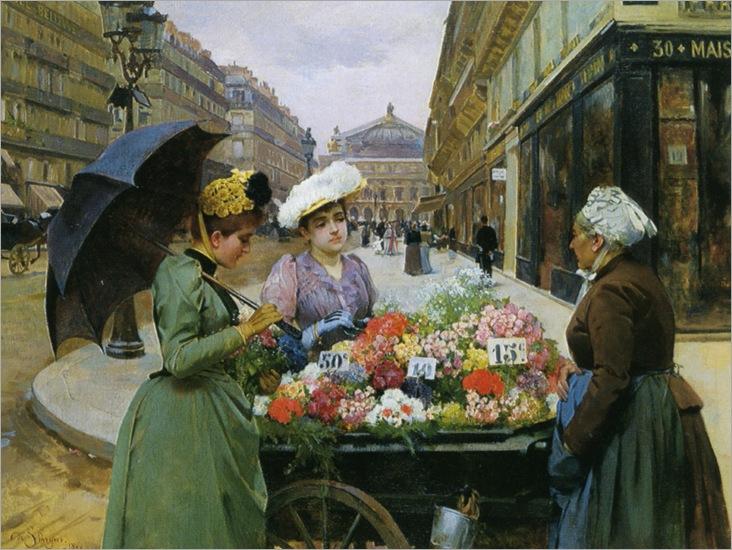 Schryer_Louis_Marie_de_La_Marchande_Des_Fleurs_Paris_1890