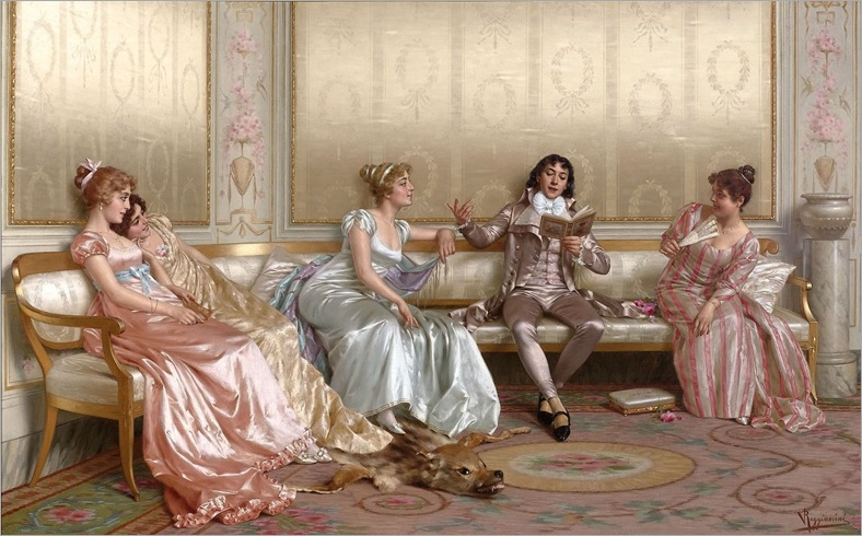 the lecture- vittorio reggianini-(italian-1858-1938)
