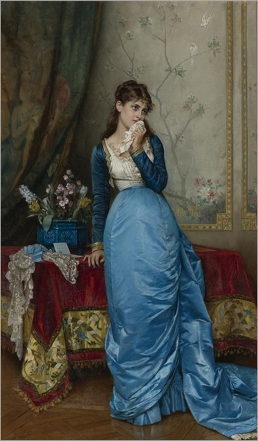 The letter - Auguste  Toulmouche - 1878