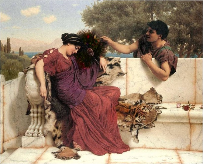 the old old story-John William Godward - (English Classicist Painter, 1861-1922)