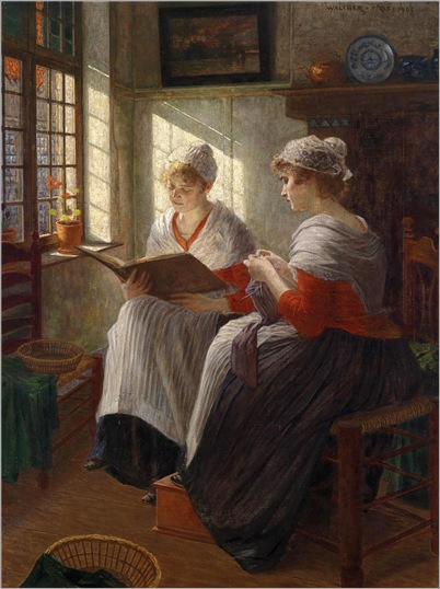 Two Girls at the Window -1903- Walther Firle (german painter, 1859-1929)