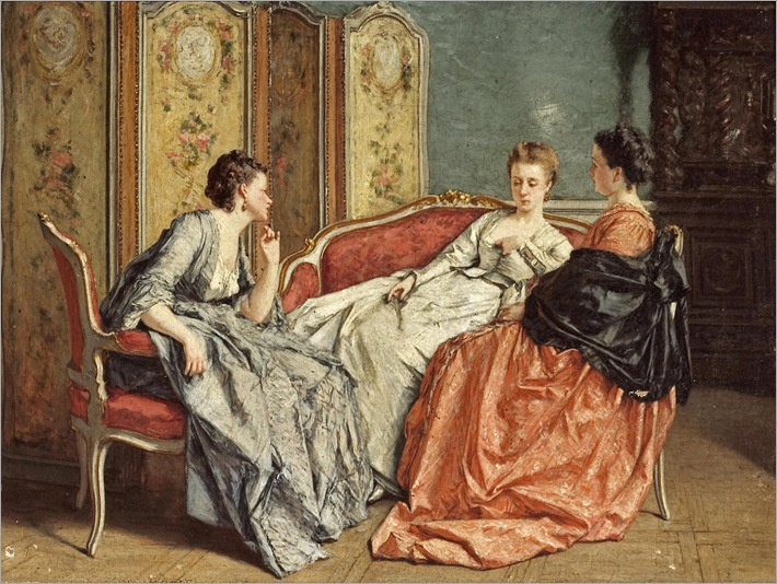 Victor Joseph Chavet (1822-1908) - The conversation