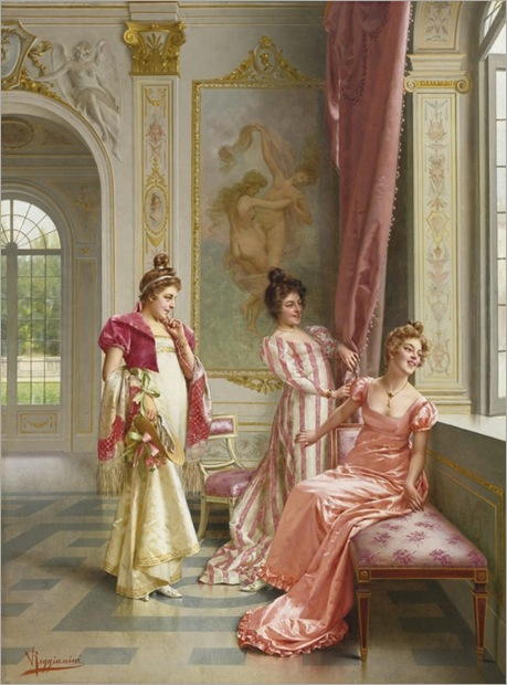 Vittorio Reggianini (italian, 1858 - 1938) - the coquete´s adventure - Sotheby´s