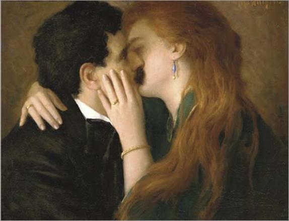 A passionate kiss, Richard Mauch. Austrian (1874 - 1921)