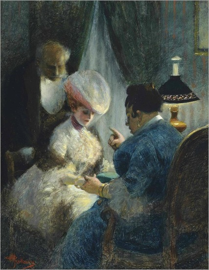 Albert Guillaume - A visit to the fortune teller