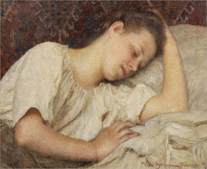 At Rest - Vlaho Bukovac (croatian painter)