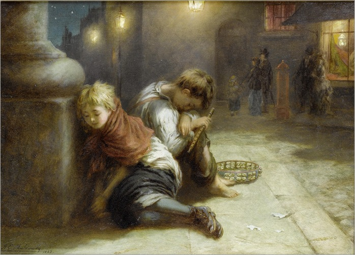 Augustus Edwin Mulready - Fatigued Minstrels 1883