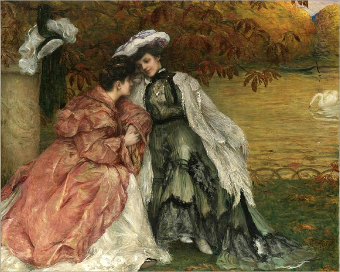 Autumn Leaves - 1905- Louis Marie Joseph Ridel (french)