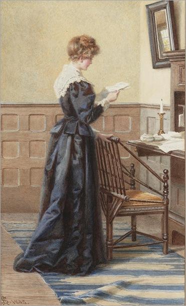 Catherine Adelaide Sparkes (b.1842-) - Needing an answer, 1888
