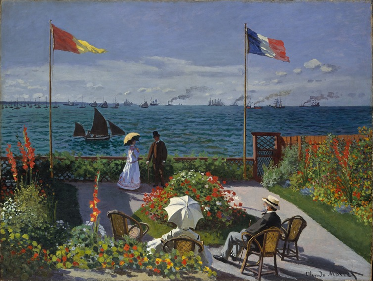Claude Monet - The Garden at Sainte-Adresse -1867