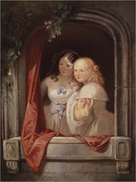 Elisabeth-Modell-(Vienna 1820-1865) Two Young Ladies at the Window_596x800