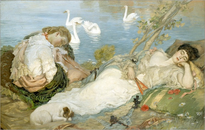 Endormies - Rupert Bunny-1904