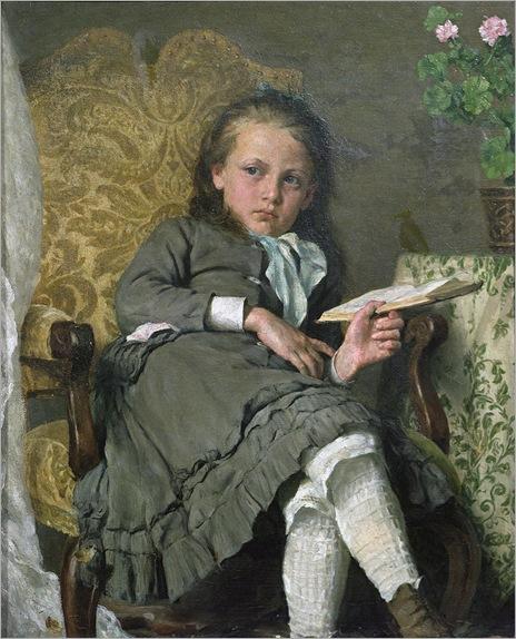 Erik Theodor Werenskiold - Girl in a chair (1879)
