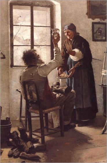 Eugenio Prati (Italian, 1842-1907) - Alla mia vecchietta