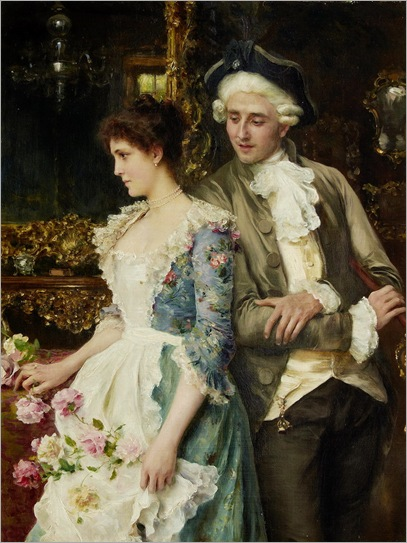 Federico Andreotti (italiano, 1847-1930) - Flirtation