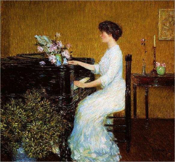 Frederick Childe Hassam (1859-1935) - Piano, 1908