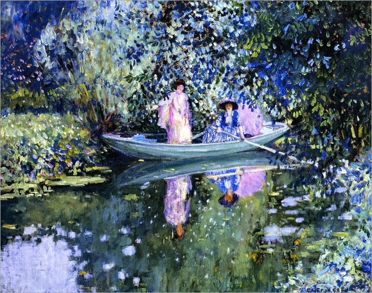 Grey Day on the River - 1908 - Frederick Carl Frieseke (american painter)