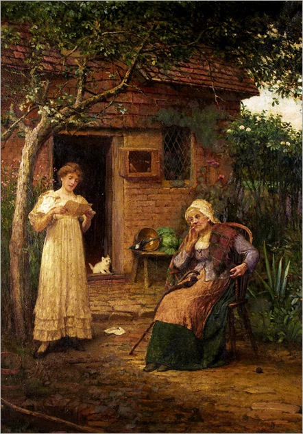John Scott (British, 1850-1919) - News from afar