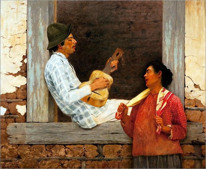 Jose Ferraz de Almeida Junior (1850-1899) - O violeiro